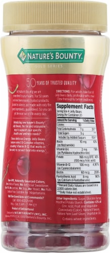 Nature's Bounty® Energy Cherry Flavored Jelly Beans Perspective: back