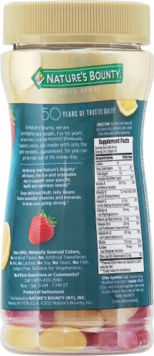 Nature's Bounty® Multi Jelly Beans Perspective: back