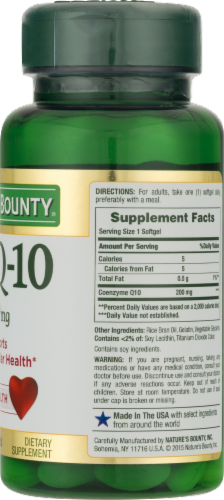 Nature's Bounty Co Q-10 Softgels 200mg Perspective: back