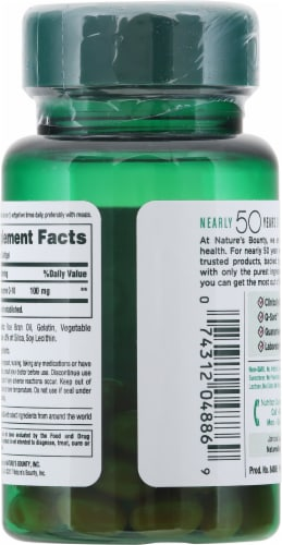 Nature's Bounty Co Q-10 Softgels 100mg Perspective: back