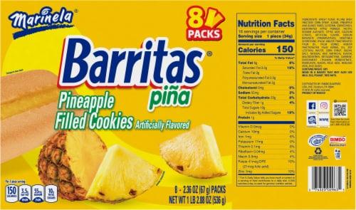 Marinela Barritas Pineapple Filled Cookies Perspective: back