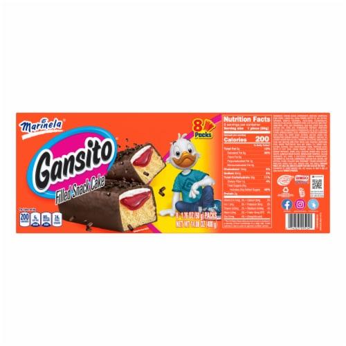 Marinela Gansito Snack Cakes Perspective: back