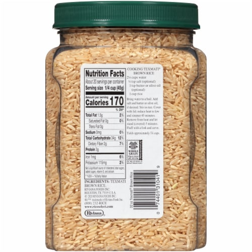 RiceSelect Texmati Long Brown Rice Perspective: back