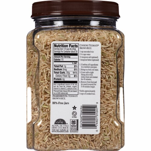 RiceSelect Texmati Organic Brown Rice Perspective: back