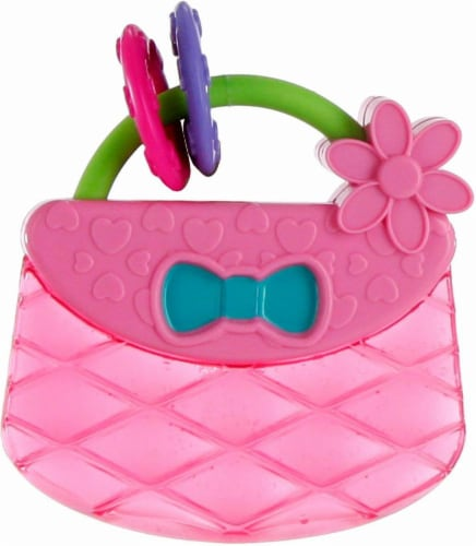 Bright Starts Pretty in Pink Carry and Teethe Purse Infant Toy Perspective: back