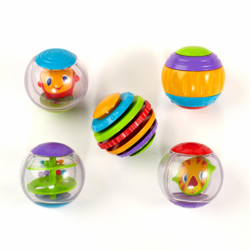 Bright Starts Shake and Spin Activity Balls Infant Toy Perspective: back