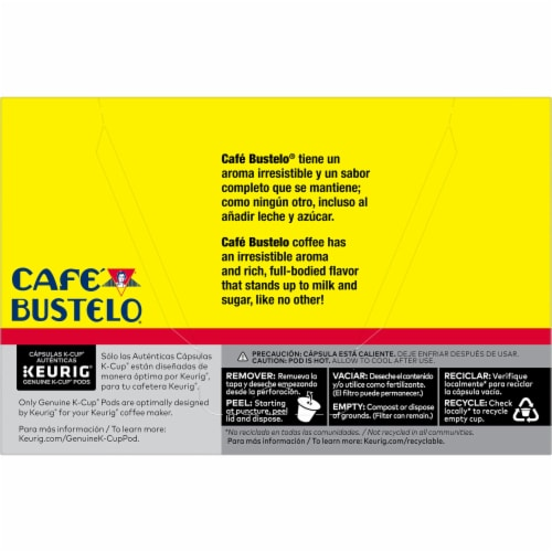 Cafe Bustelo® Espresso Style Coffee K-Cup Pods Perspective: back