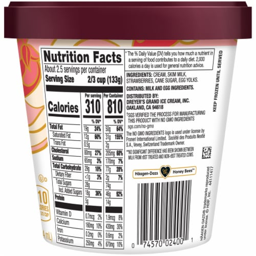 Haagen-Dazs® Gluten Free Strawberry Ice Cream Perspective: back