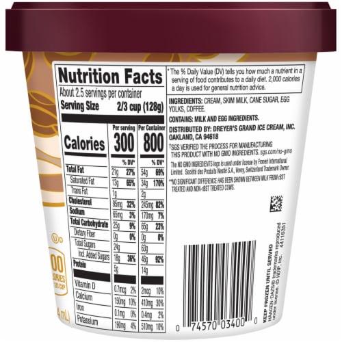 Haagen-Dazs® Gluten Free Coffee Ice Cream Perspective: back