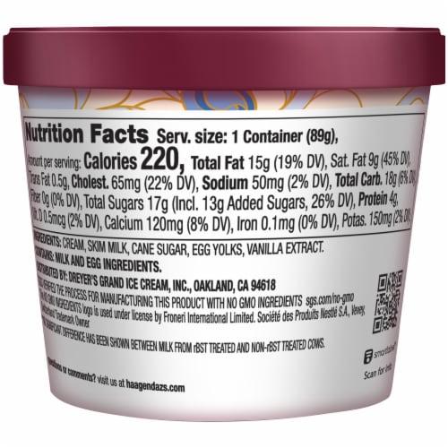 Haagen-Dazs Gluten Free Vanilla Ice Cream Cup Perspective: back