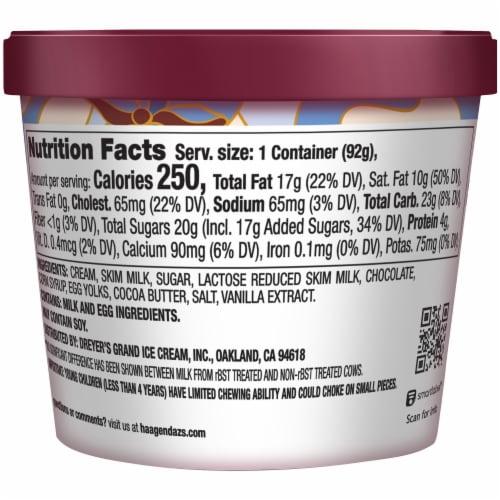 Haagen-Dazs Gluten Free Vanilla Chocolate Chip Ice Cream Cup Perspective: back