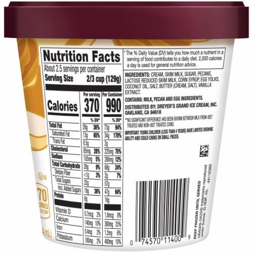 Haagen-Dazs® Gluten Free Butter Pecan Ice Cream Perspective: back