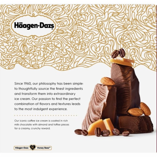 Haagen-Dazs Coffee Almond Crunch Ice Cream Bars Perspective: back
