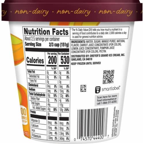 Haagen-Dazs® Mango Sorbet Perspective: back