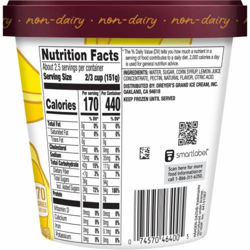 Haagen-Dazs® Lemon Sorbet Perspective: back