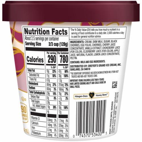 Haagen-Dazs® Cherry Vanilla Ice Cream Perspective: back