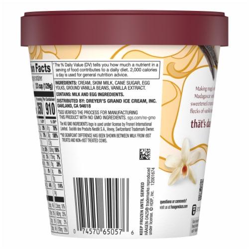 Haagen-Dazs Gluten Free Vanilla Bean Ice Cream Perspective: back