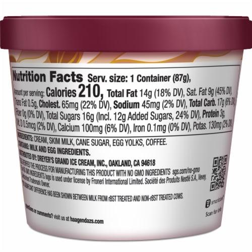 Haagen-Dazs Gluten Free Coffee Ice Cream Cup Perspective: back