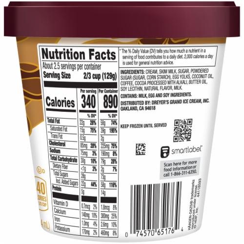 Haagen-Dazs® Gluten Free Coffee Chip Ice Cream Perspective: back