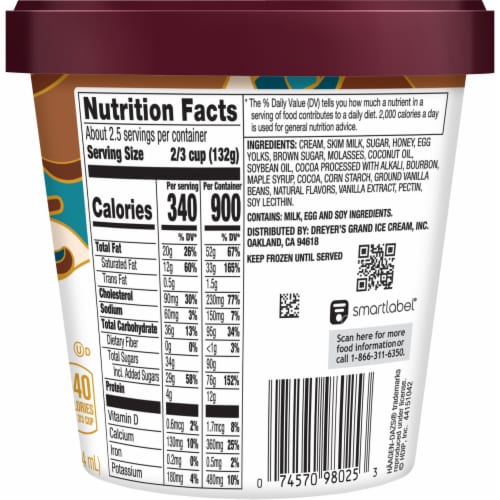 Haagen-Dazs® Spirits Bourbon Vanilla Bean Truffle Ice Cream Perspective: back