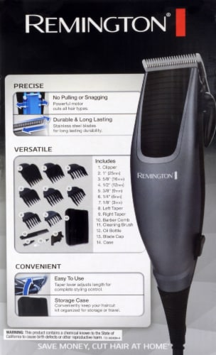 Remington Home Barber Haircut Kit Perspective: back