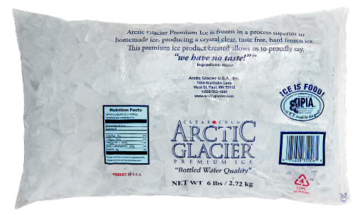 Arctic Glacier Bagged Ice Cubes Perspective: back