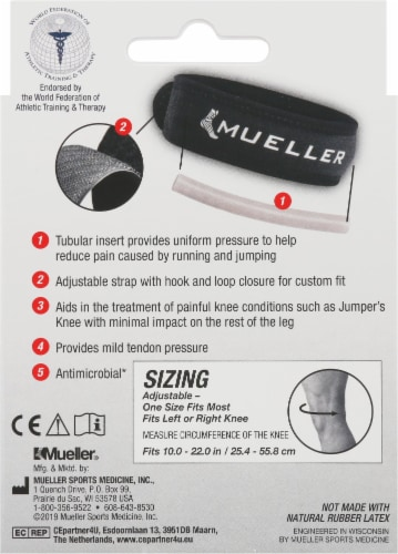Mueller Jumper's Knee Strap One Size Fits Most Perspective: back