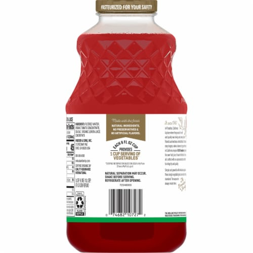 R.W. Knudsen Organic Tomato Juice Perspective: back