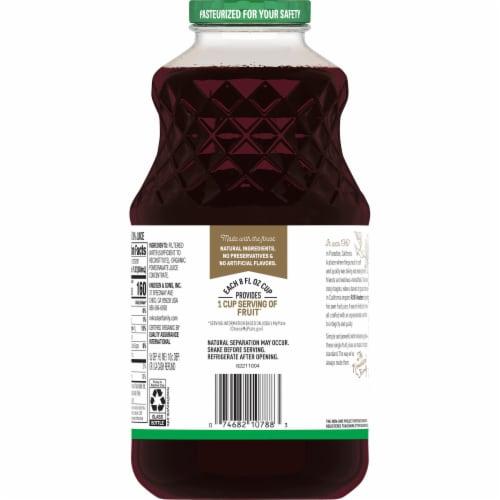 R.W. Knudsen Just Pomegranate Juice Perspective: back