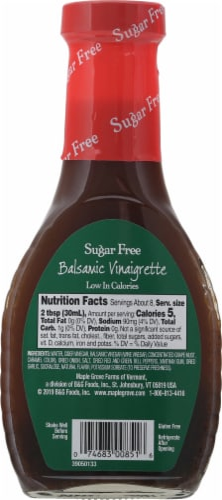 Maple Grove Farms Of Vermont® Sugar Free Balsamic Vinaigrette Dressing Perspective: back