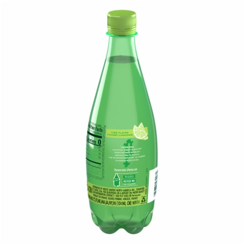 Perrier Lime Flavored Carbonated Mineral Water Perspective: back