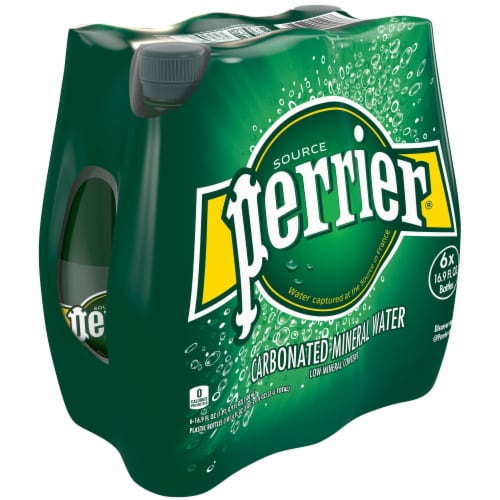 Perrier Sparkling Natural Mineral Water 6 Count Perspective: back