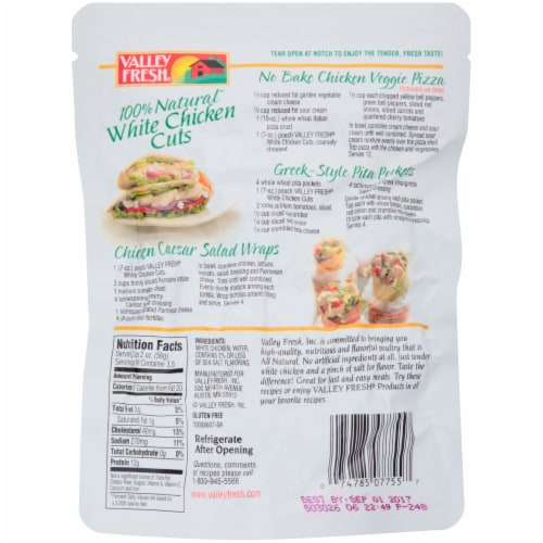 Valley Fresh White Chicken Cuts Pouch Perspective: back