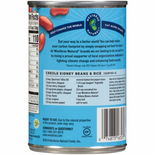 Westbrae Natural® Organic Kidney Beans Perspective: back