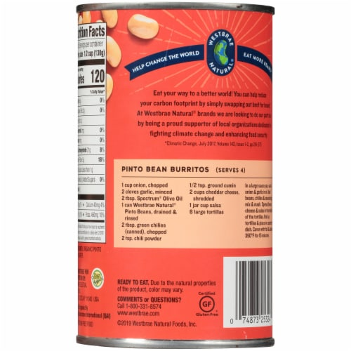 Westbrae Natural Organic Pinto Beans Perspective: back