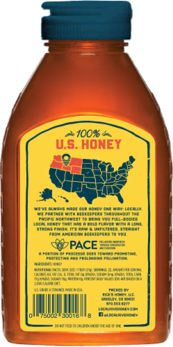 Local Hive Northwest Raw & Unfiltered Honey Perspective: back