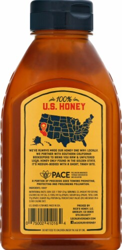 Local Hive So Cal Raw & Unfiltered Honey Perspective: back