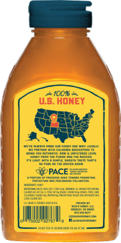 Local Hive Colorado Raw & Unfiltered Honey Perspective: back