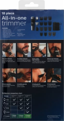 Phillips Norelco Multigroom 5000 All-in-One Trimmer Grooming Set Perspective: back