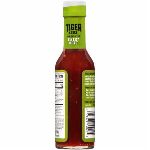 Try Me Tiger Sauce Original Sweet Heat Hot Sauce Perspective: back