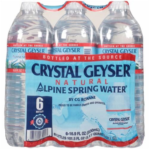 Crystal Geyser Alpine Spring Water Perspective: back