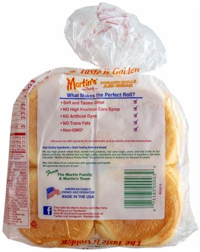 Martin's Famous Pastry Shoppe Potato Sandwich Rolls 8 Count Perspective: back