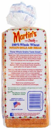 Martin's 100% Whole Wheat Potato Bread Perspective: back