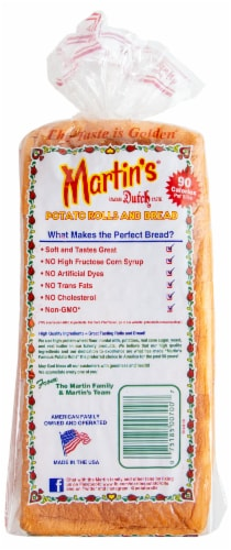 Martin's Sandwich Potato Bread Perspective: back