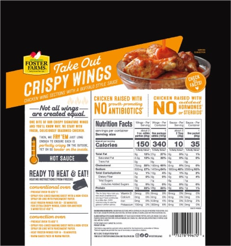 Foster Farms® Take Out Classic Buffalo Style Crispy Chicken Wings Perspective: back