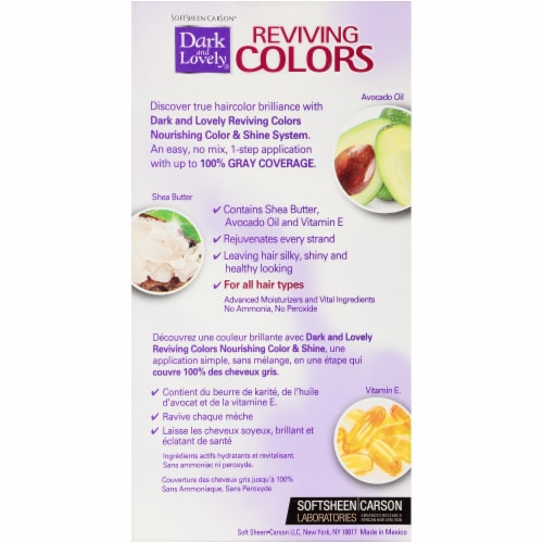 Dark & Lovely Reviving Colors 391 Radiant Black Semi-Permanent Hair Color Perspective: back