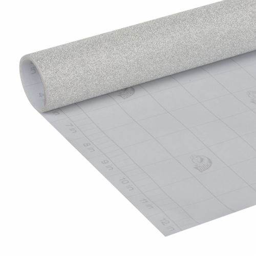 Duck® Deco Adhesive Laminate - Glimmer Silver Perspective: back
