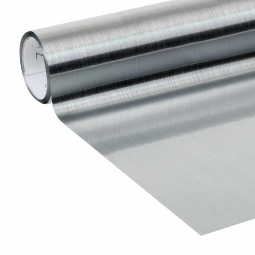 Duck® Deco Adhesive Laminate - Metallic Silver Perspective: back