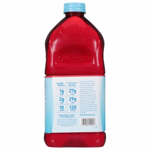 Old Orchard Healthy Balance Diet Apple Cranberry Flavored Juice Cocktail Blend Perspective: back