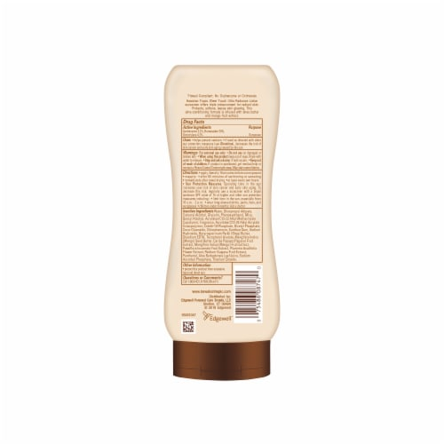 Hawaiian Tropic Sheer Touch Ultra Radiance Sunscreen Lotion SPF 30 Perspective: back